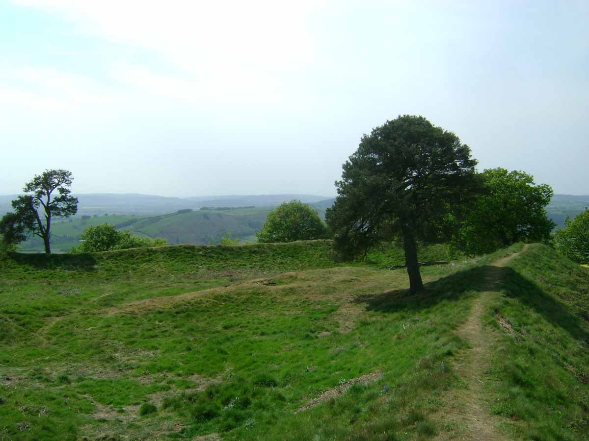 Ramparts at the Burrow Hill Fort