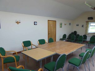 The upstairs meeting room at Aston on Clun